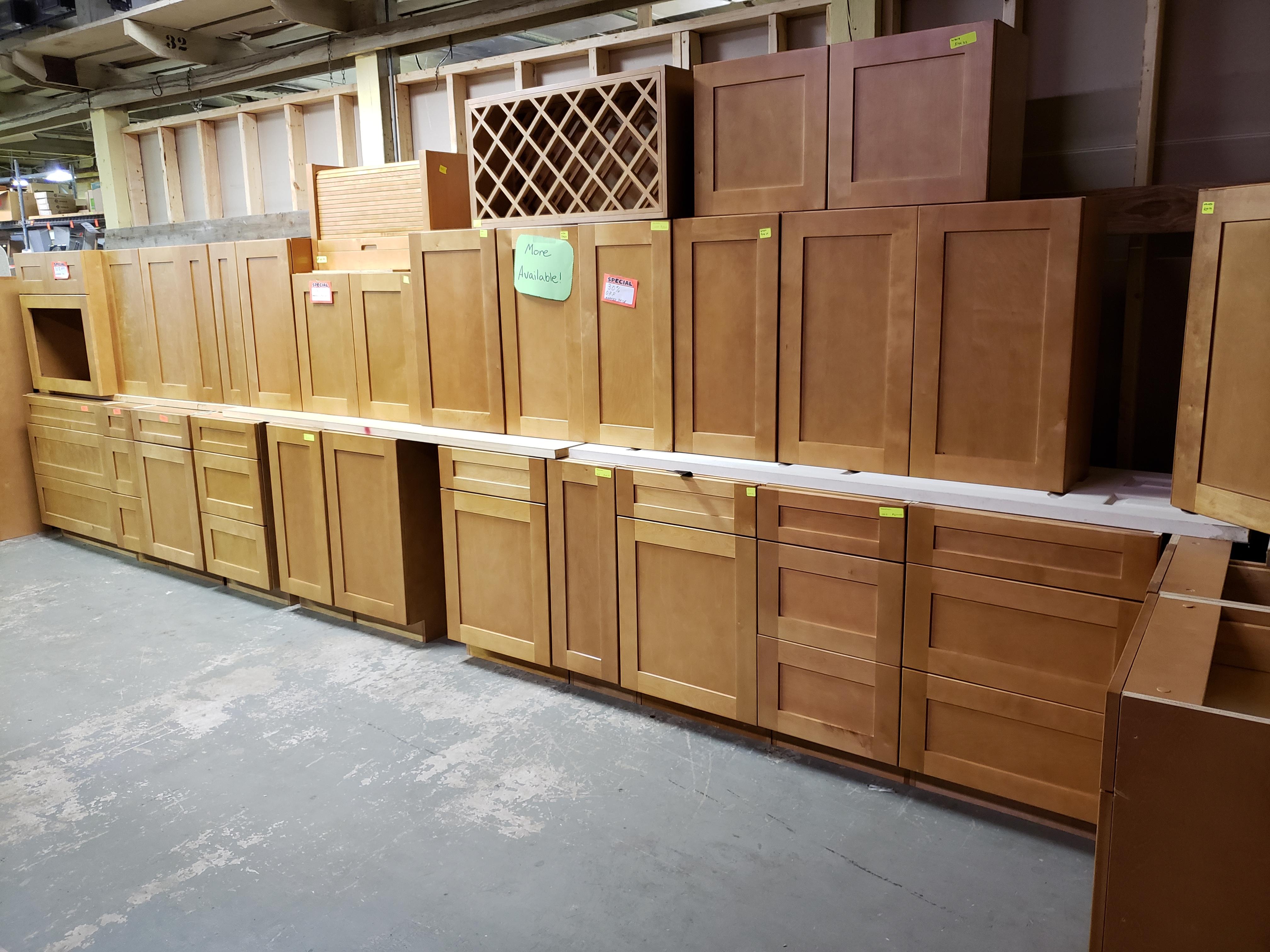 Alpha Shaker Light Surplus Cabinets