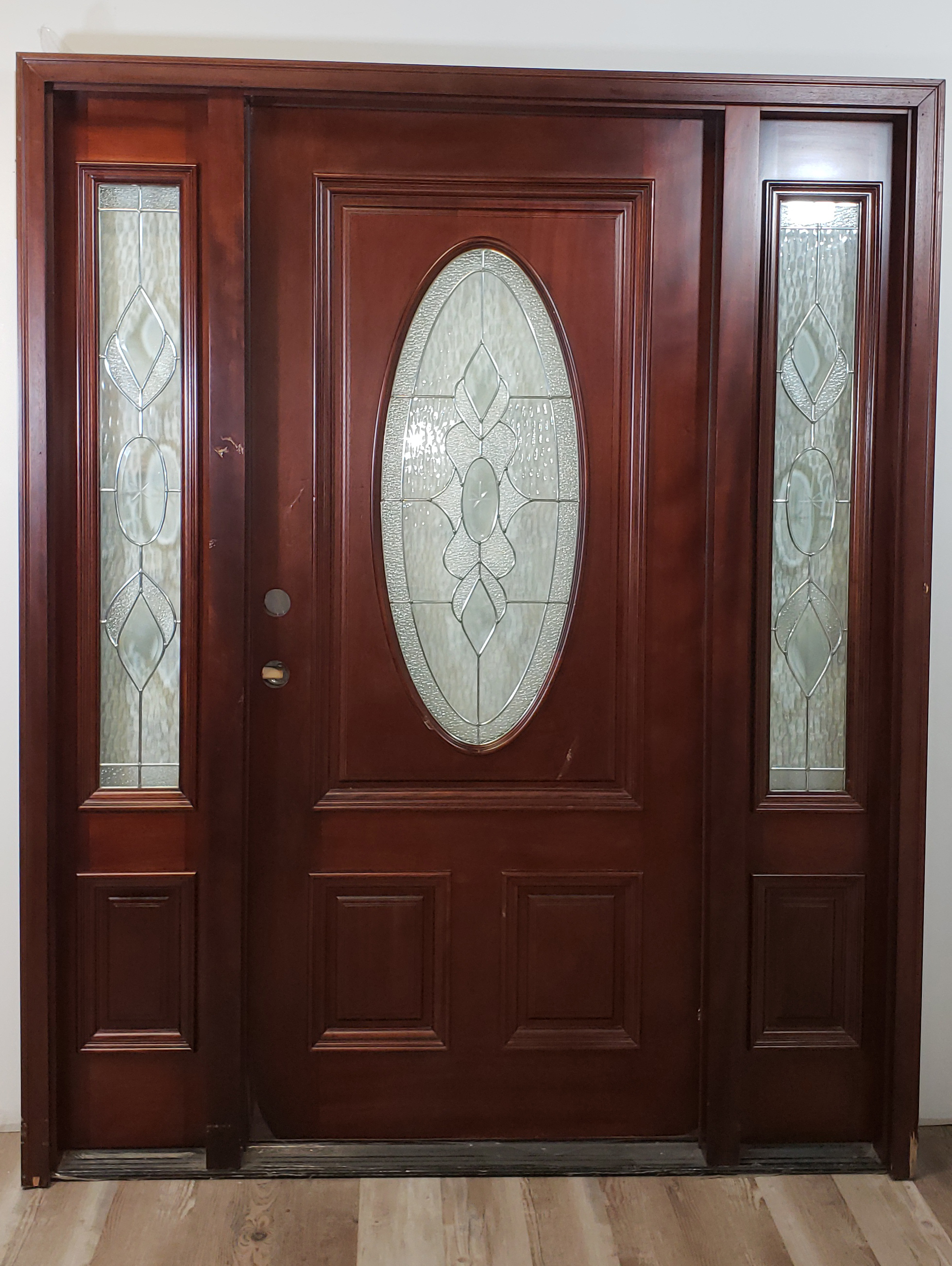 Wood Pacific Entry Gl Oval Sidelights Exterior Door