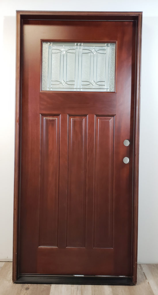 Wood Pacific Entry Glass Square Exterior Door Mahogany