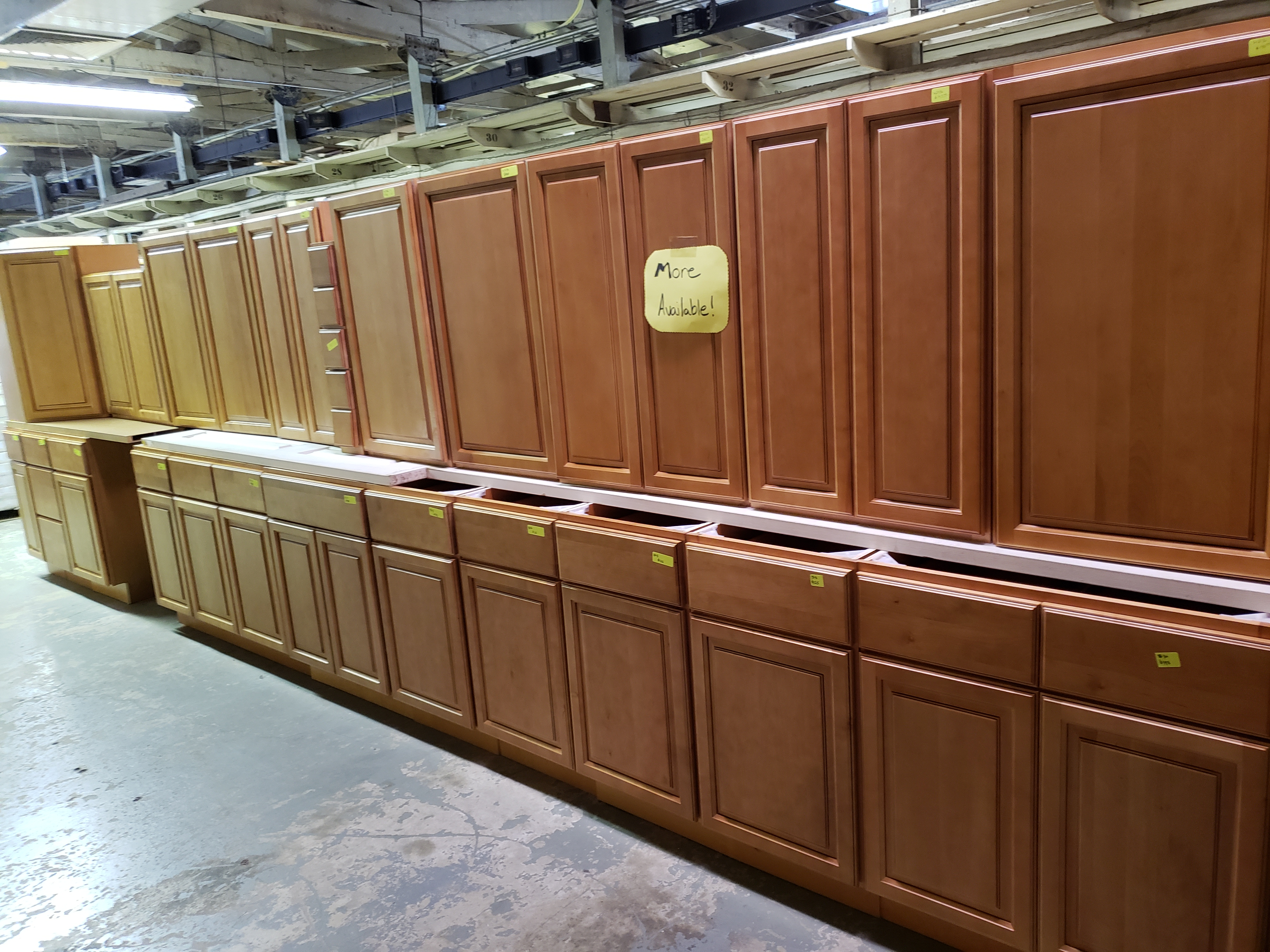 Oxford Spice Raised Panel Surplus Cabinets